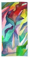 Watercolor Mosaic Hand Towel