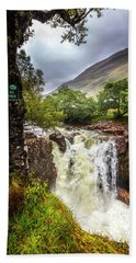 Waterfall At The Ben Nevis Mountain Bath Towel
