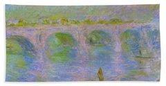 Waterloo Bridge In London - Digital Remastered Edition Bath Towel