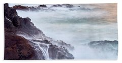 Hand Towel featuring the photograph Wave Falls by Whitney Goodey