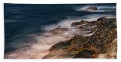 Waves And Rocks At Sozopol Town Hand Towel
