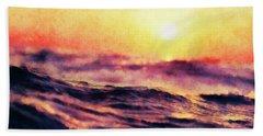 Waves At Sunrise Hand Towel