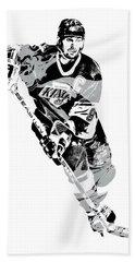 Wayne Gretzky Los Angeles Kings Pixel Art 1 Bath Towel