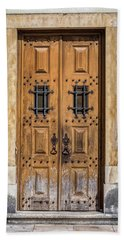 Weathered Brown Door Of Portugal Hand Towel