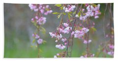 Weeping Cherry Blossoms Hand Towel