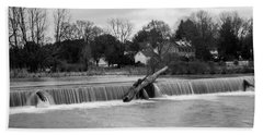 Wehr's Dam - Black And White Bath Towel