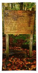 Bath Towel featuring the photograph Welcome To The Long Trail And The Vermont At by Raymond Salani III