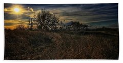 Bath Towel featuring the photograph Western Nebraska Winter by Dan Miller