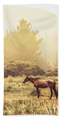 Western Ranch Horse Bath Towel