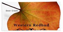 Western Redbud Hand Towel