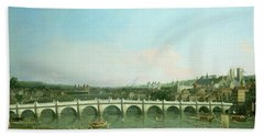 Westminster Bridge From The North With Lambeth Palace In Distance Bath Towel