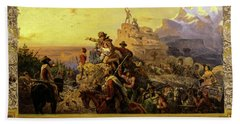 Westward The Course Of Empire Takes Its Way, 1861 Hand Towel