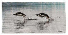 When Penguins Fly Hand Towel