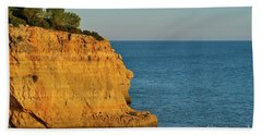 Where Land Ends In Carvoeiro Hand Towel