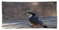 White Breasted Nuthatch Hand Towel