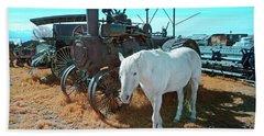 White Horse Iron Horse Bath Towel