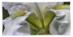 White Iris Hand Towel