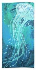 White Jellyfish Hand Towel