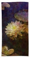 White Lotus Lily Pond 2938 Idp_2 Bath Towel