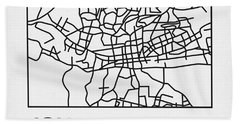 White Map Of Johannesburg Hand Towel