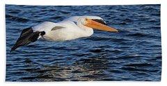 White Pelican Cruising Hand Towel