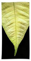 White Poinsettia Leaf Hand Towel
