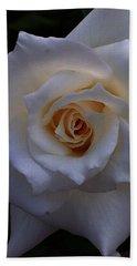 White Rose Hand Towel