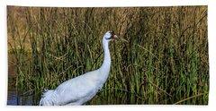 Whooping Crane In Pond Bath Towel