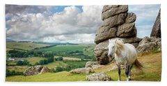 Wild Dartmoor Pony Hand Towel