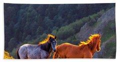 Wild Horses Hand Towel