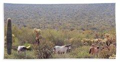 Wild Horses Salt River Arizona Bath Towel