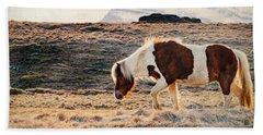 Wild Icelandic Horse Hand Towel