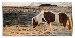 Wild Icelandic Horse Bath Towel