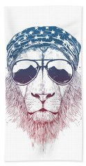 Wild Lion II Bath Towel