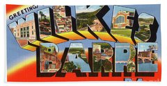 Wilkes Barre Greetings Bath Towel