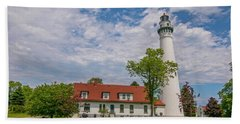 Wind Point Lighthouse  Hand Towel