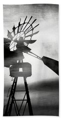 Windmill In The Wind- Art By Linda Woods Hand Towel