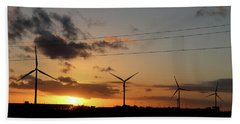 Windmill Sunset Hand Towel