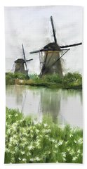 Windmills Bath Towel