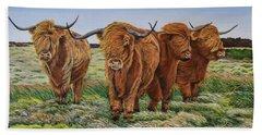 Windswept Highland Cattle  Hand Towel