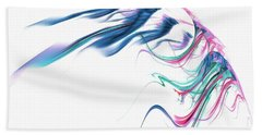 Wing Of Beauty Art Abstract Blue Bath Towel