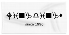 Wingdings Since 1990 - Black Bath Towel