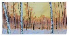 Winter Birches-cardinal Right Hand Towel