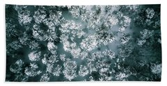 Winter Forest - Aerial Photography Bath Towel
