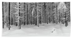 Bath Towel featuring the photograph winter forest, Harz by Andreas Levi