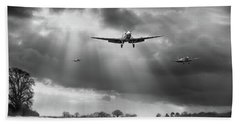 Bath Towel featuring the photograph Winter Homecoming Bw Version by Gary Eason