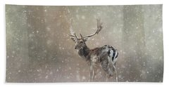 Winter In The Woods Bath Towel