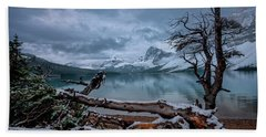 Winter Is Coming Bow Lake Hand Towel
