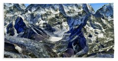 Winter Landscape In The Mountains Hand Towel