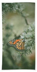 Winter Monarch Hand Towel